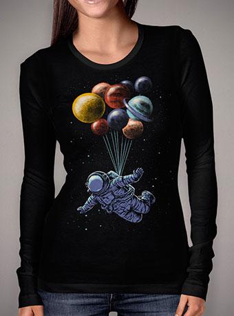 Женская футболка с длинным рукавом Space Travel