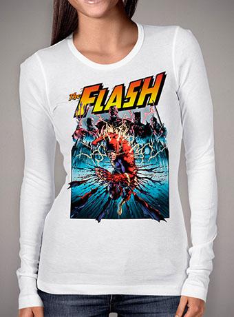 Женская футболка с длинным рукавом Flash Shreds