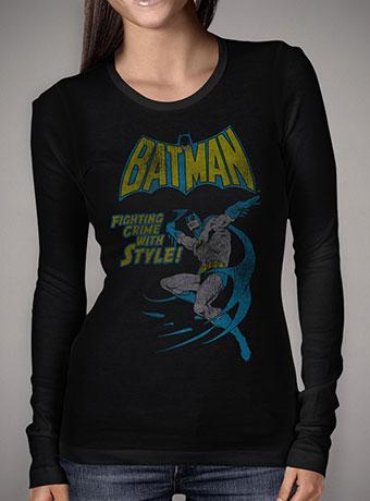 Женская футболка с длинным рукавом Vintage Batman Comic