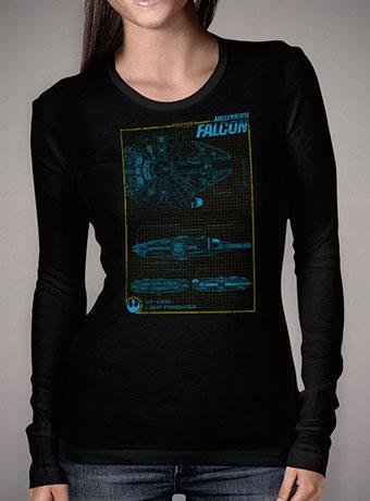 Женская футболка с длинным рукавом Falcon Schematics