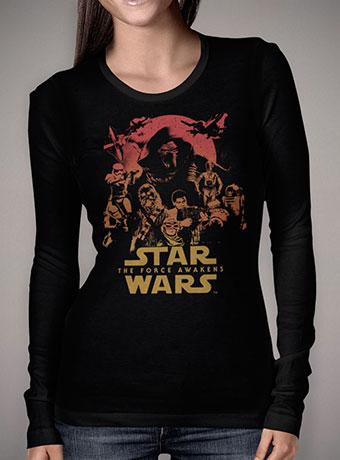 Женская футболка с длинным рукавом Force Awakens Poster