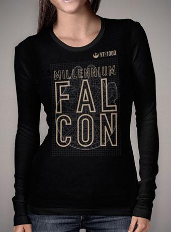 Женская футболка с длинным рукавом YT 1300 Millennium Falcon