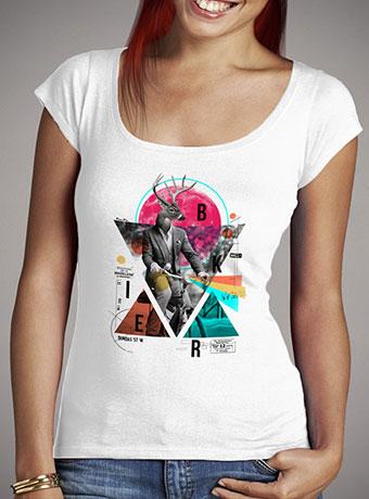 Женская футболка с глубоким вырезом Biker