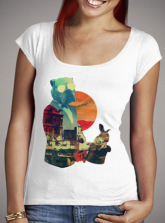 Женская футболка с глубоким вырезом Abracadabra