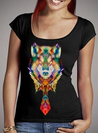 Женская футболка с глубоким вырезом Corporate Wolf