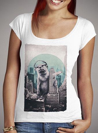 Женская футболка с глубоким вырезом Dj
