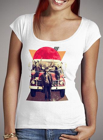 Женская футболка с глубоким вырезом El Camion