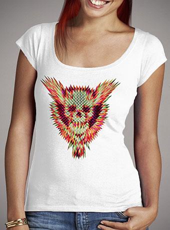 Женская футболка с глубоким вырезом Geo Skull
