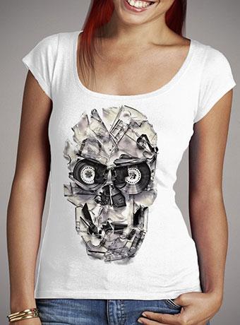 Женская футболка с глубоким вырезом Home Taping Is Dead