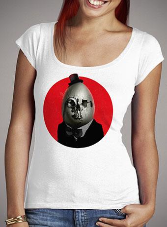 Женская футболка с глубоким вырезом Humpty Dumpty