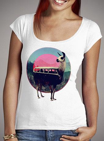 Женская футболка с глубоким вырезом Llama