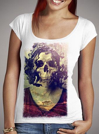 Женская футболка с глубоким вырезом Miss Skull