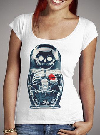 Женская футболка с глубоким вырезом Nesting Doll X-Ray