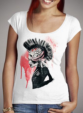 Женская футболка с глубоким вырезом Punk