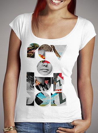 Женская футболка с глубоким вырезом Revolution