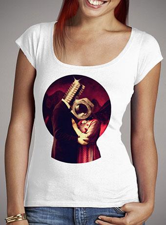 Женская футболка с глубоким вырезом Screw Love