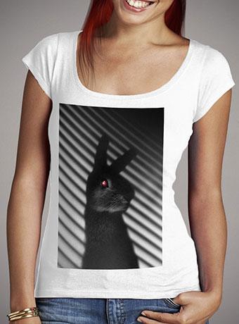 Женская футболка с глубоким вырезом Shadow Bunny