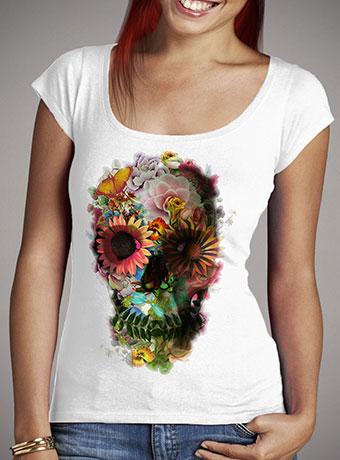 Женская футболка с глубоким вырезом Skull 2