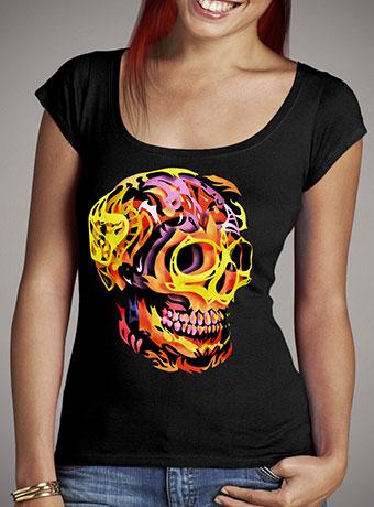 Женская футболка с глубоким вырезом Skull V