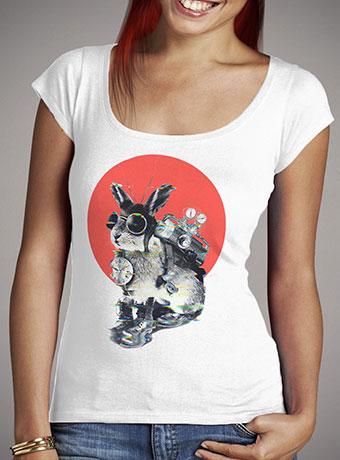 Женская футболка с глубоким вырезом Time Traveller