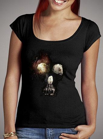 Женская футболка с глубоким вырезом Cave Skull