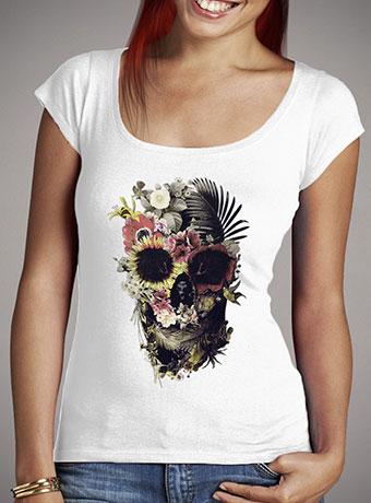Женская футболка с глубоким вырезом Garden Skull