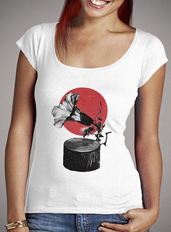 Женская футболка с глубоким вырезом Gramophone