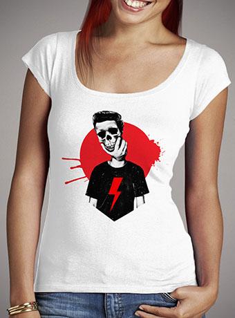 Женская футболка с глубоким вырезом Live Fast