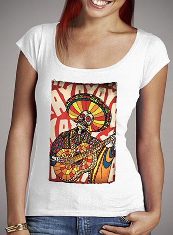 Женская футболка с глубоким вырезом Mariachi