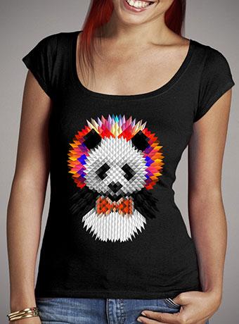 Женская футболка с глубоким вырезом Panda 2