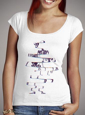 Женская футболка с глубоким вырезом Skeleton