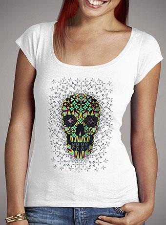 Женская футболка с глубоким вырезом Skull 6