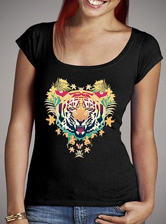 Женская футболка с глубоким вырезом Tiger