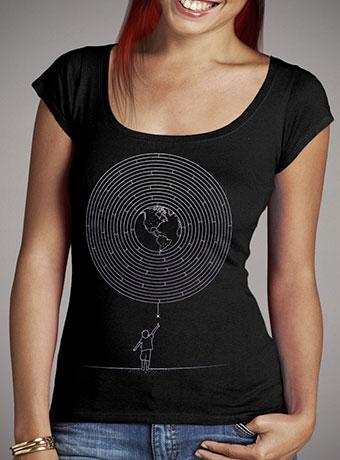 Женская футболка с глубоким вырезом I Dream To Explore The World