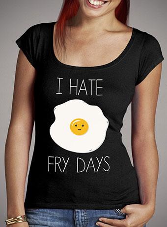 Женская футболка с глубоким вырезом I Hate Fridays