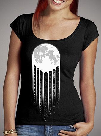 Женская футболка с глубоким вырезом Moon-City