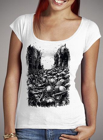 Женская футболка с глубоким вырезом Chaos Infected