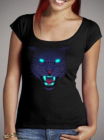 Женская футболка с глубоким вырезом Electric Panther