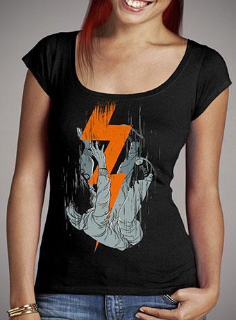Женская футболка с глубоким вырезом Fall Effect