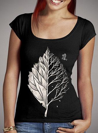 Женская футболка с глубоким вырезом Leaf of Life
