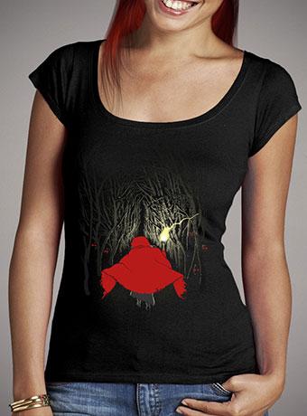 Женская футболка с глубоким вырезом Lost in the Forest