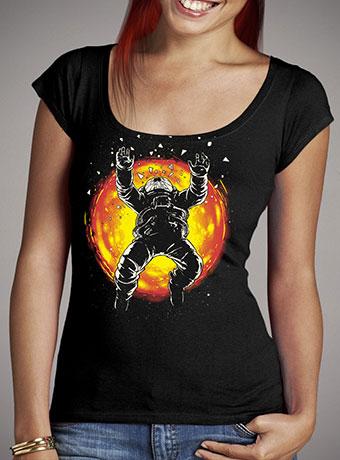 Женская футболка с глубоким вырезом Lost in the Space