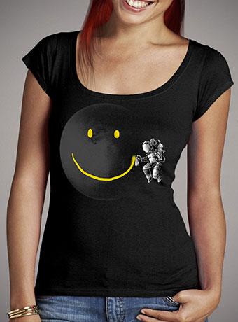 Женская футболка с глубоким вырезом Make a Smile