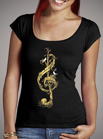 Женская футболка с глубоким вырезом Natural Melody
