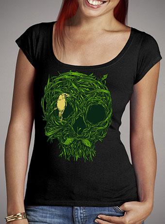 Женская футболка с глубоким вырезом Skull Nest