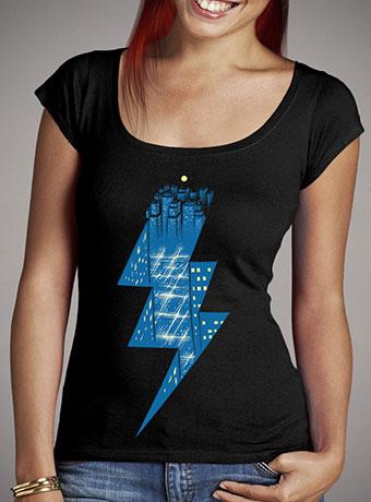 Женская футболка с глубоким вырезом Thunder City