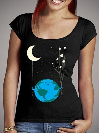 Женская футболка с глубоким вырезом Under the Moon and Stars