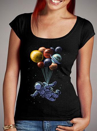 Женская футболка с глубоким вырезом Space Travel
