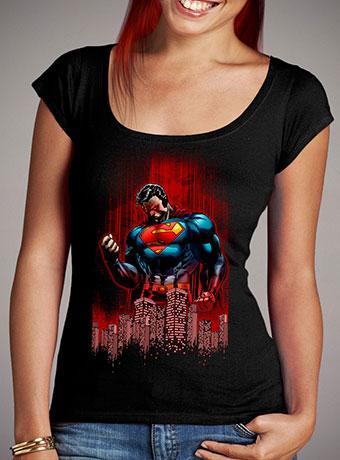 Женская футболка с глубоким вырезом Return of Krypton