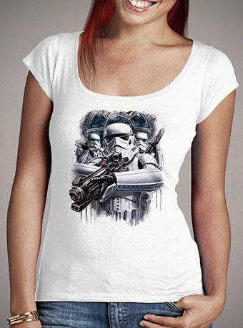 Женская футболка с глубоким вырезом Blast Them